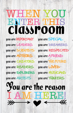 image relating to Free Printable Classroom Posters known as No cost Clroom Posters: Inspirational absolutely free printables